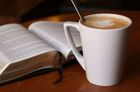 latte: Latte and a Bible