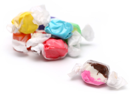 taffy: Saltwater Taffy on a White Background