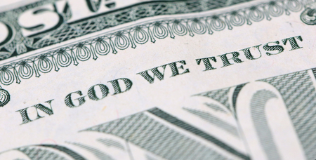 In God We Trust on a One Dollar Bill
