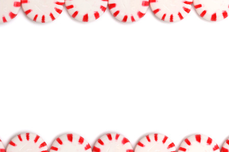 candy stripe: Peppermints on a white background