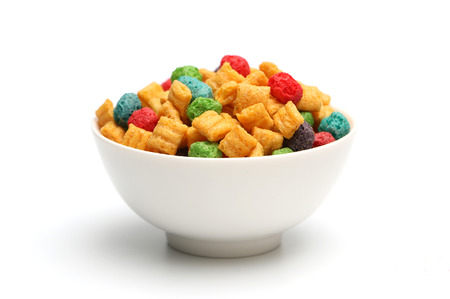 Breakfast cereal isolated on a white background
