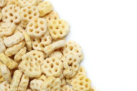 honey comb: Breakfast cereal isolated on a white background