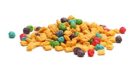 白い背景に分離された朝食用シリアル 写真素材
