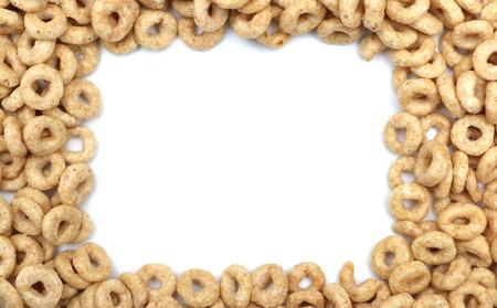 negocios comida: Cereales para el desayuno aislado en un fondo blanco