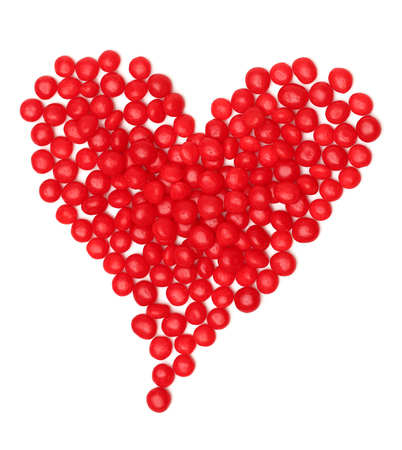 hots: A love heart made out of spicy cinnamon candy