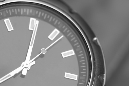 Macro View of a Metal Wrist Watch