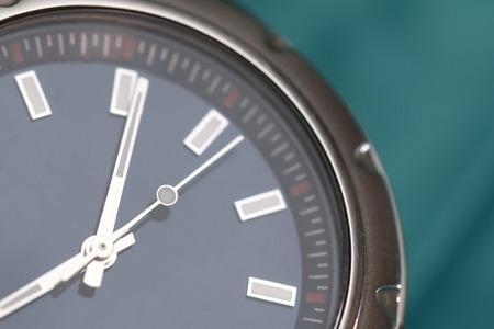 wrist: Macro View of a Metal Wrist Watch