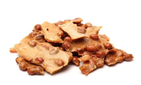 brittle: Peanut Brittle Stock Photo
