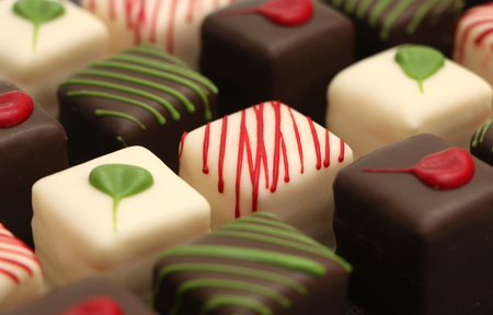 chocolate cakes: Petits Fours cakes