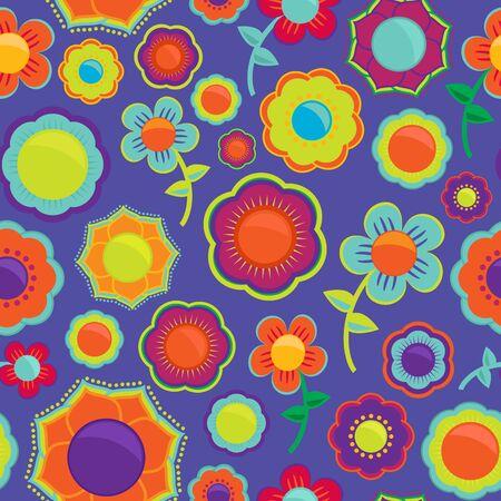 Abstract Seamless Floral Background Ilustração Vetorial