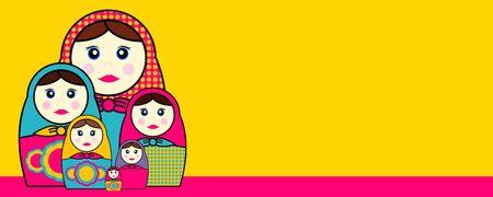Babushka Dolls Illustration