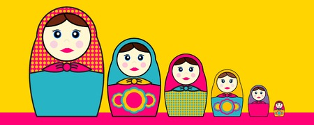 Babushka Dolls Stock Illustratie