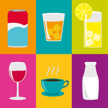 quench: Drinks Collage Illustration