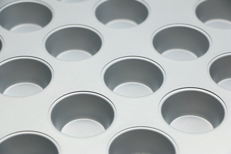 tin: Muffin Tin Stock Photo