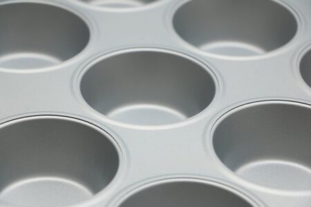 tin: Muffin Tin Stock Photo