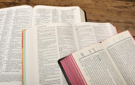 Bijbel studie Stockfoto