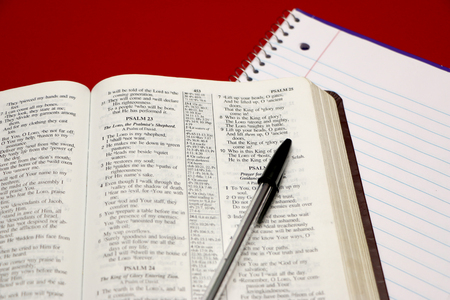 Bible Study 版權商用圖片