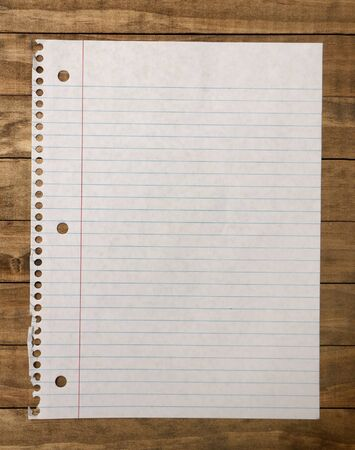 blank page: Single Blank Page Stock Photo