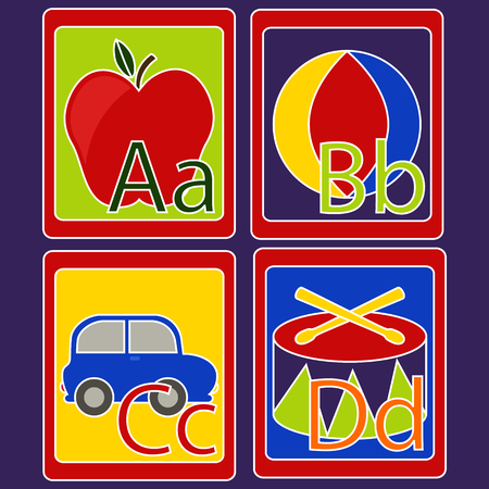 b ball: Alphabet Cards Illustration
