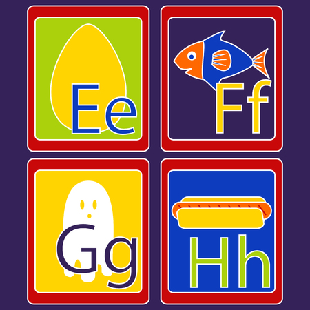 homeschooling: Alphabet Cards Illustration