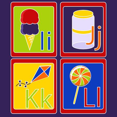 Alphabet Cards Stock Illustratie