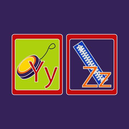 Alphabet Cards Иллюстрация