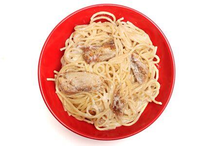 alfredo: Chicken Alfredo Stock Photo