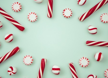 Peppermint Background with Space to Write Stock fotó