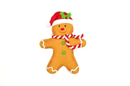 customizable: Christmas Gingerbread Cookie Stock Photo