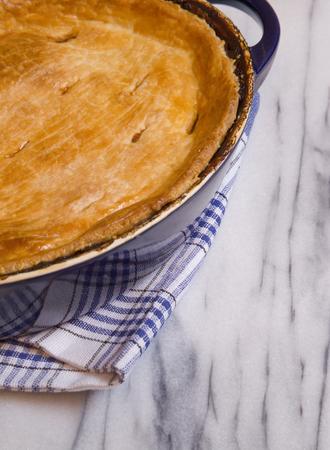 Savory Meat Pie in a Casserole Dish