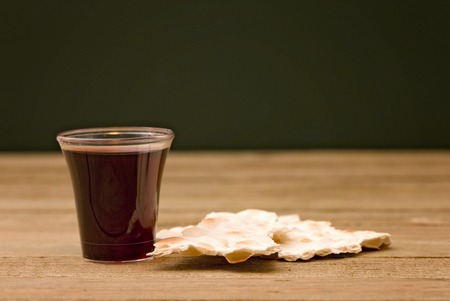 Christian Communion - A Celebration of the Jesus Death Stock Photo