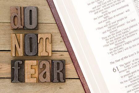 恐れてはいけない - 聖書からの引用