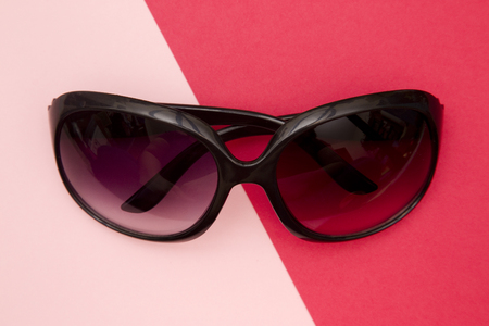 Ladies Sun Shades on a Duel Colored Modern Background