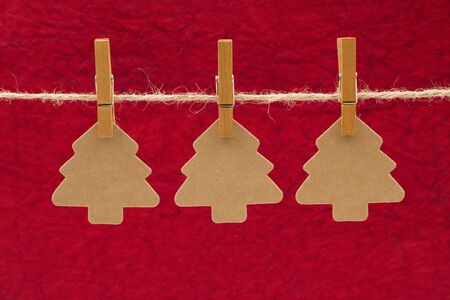 Christmas Trees on a Twine Line