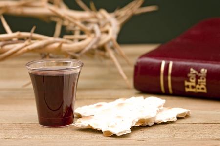 Christian Communion - A Celebration of the Jesus' Death Banco de Imagens