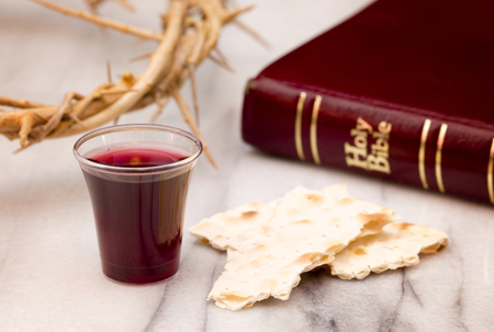 Christian Communion - A Celebration of the Jesus' Death Stock Photo