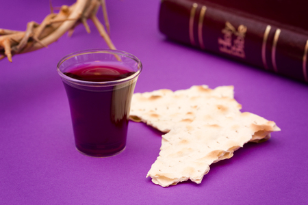 Christian Communion - A Celebration of the Jesus Death Stockfoto