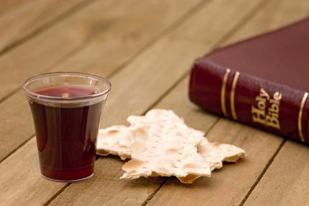 Christian Communion - A Celebration of the Jesus' Death Stockfoto