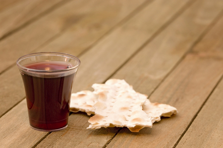 Christian Communion - A Celebration of the Jesus' Death Standard-Bild