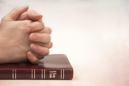Praying White Female Hands