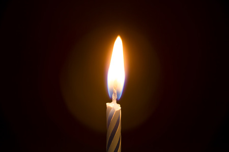 Simple Single Lite Birthday Candle - Time to celebrate!