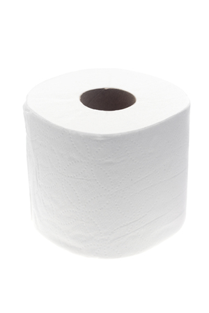 Generic White Toilet Paper on a White Background