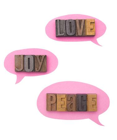 Love, Joy, and Peace Spoken to One Another Reklamní fotografie