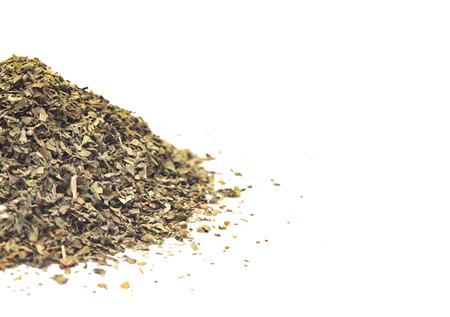 Dried Basil on a White Background Zdjęcie Seryjne