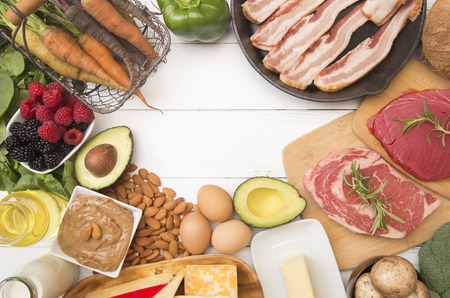 Various Foods that are Perfect for High Fat, Low Carb Diets such as Keto Stok Fotoğraf
