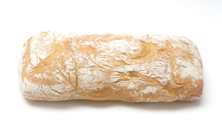 Ciabatta Bread on a White Background