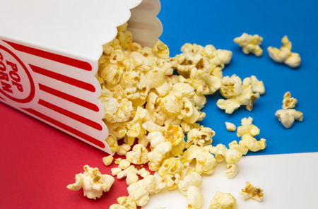 Popcorn in a Container with a Red White and Blue Theme