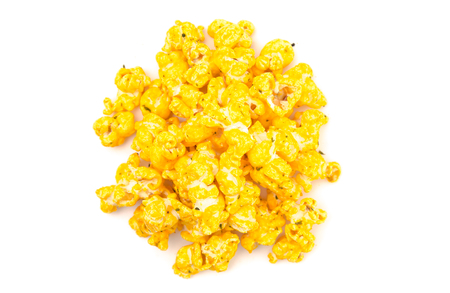 Baked Potato Flavored Cheese Popcorn on a White Background