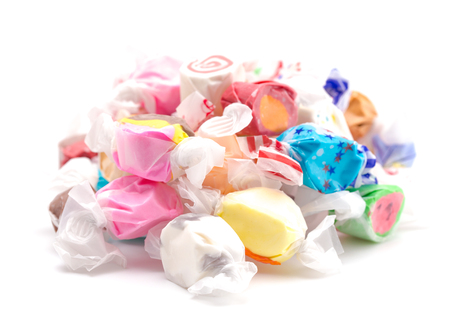 Thirty Different Flavors of Salt Water Taffy in a Pile