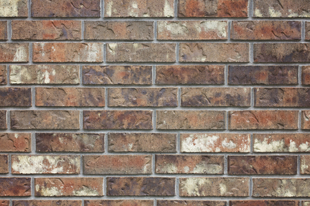 Brick Siding on the Side of a House Stock Photo